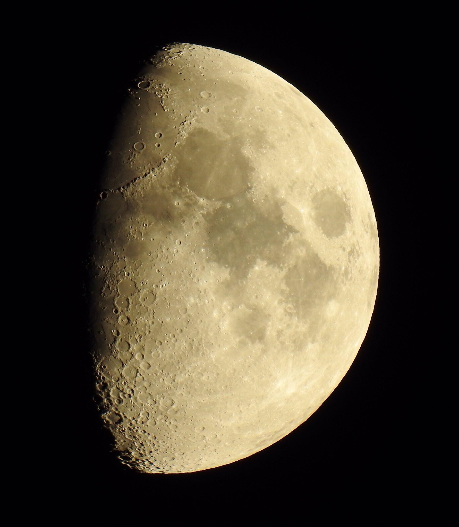 Potente observación lunar sin telescopio