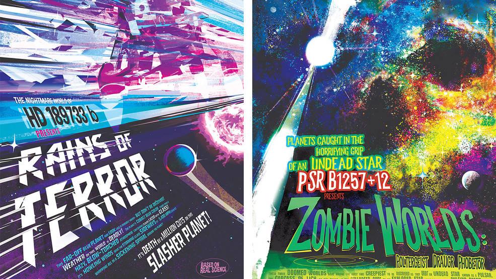 Regalo de Halloween de la NASA: nuevos posters con exoplanetas terroríficos