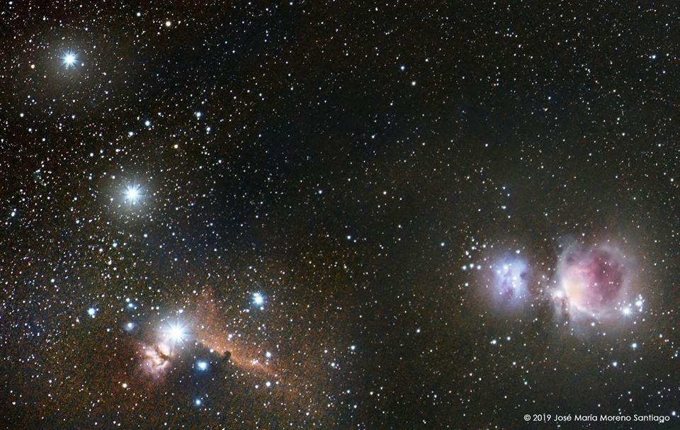 Las nebulosa de Orión y Cabeza de Caballo desde Toledo