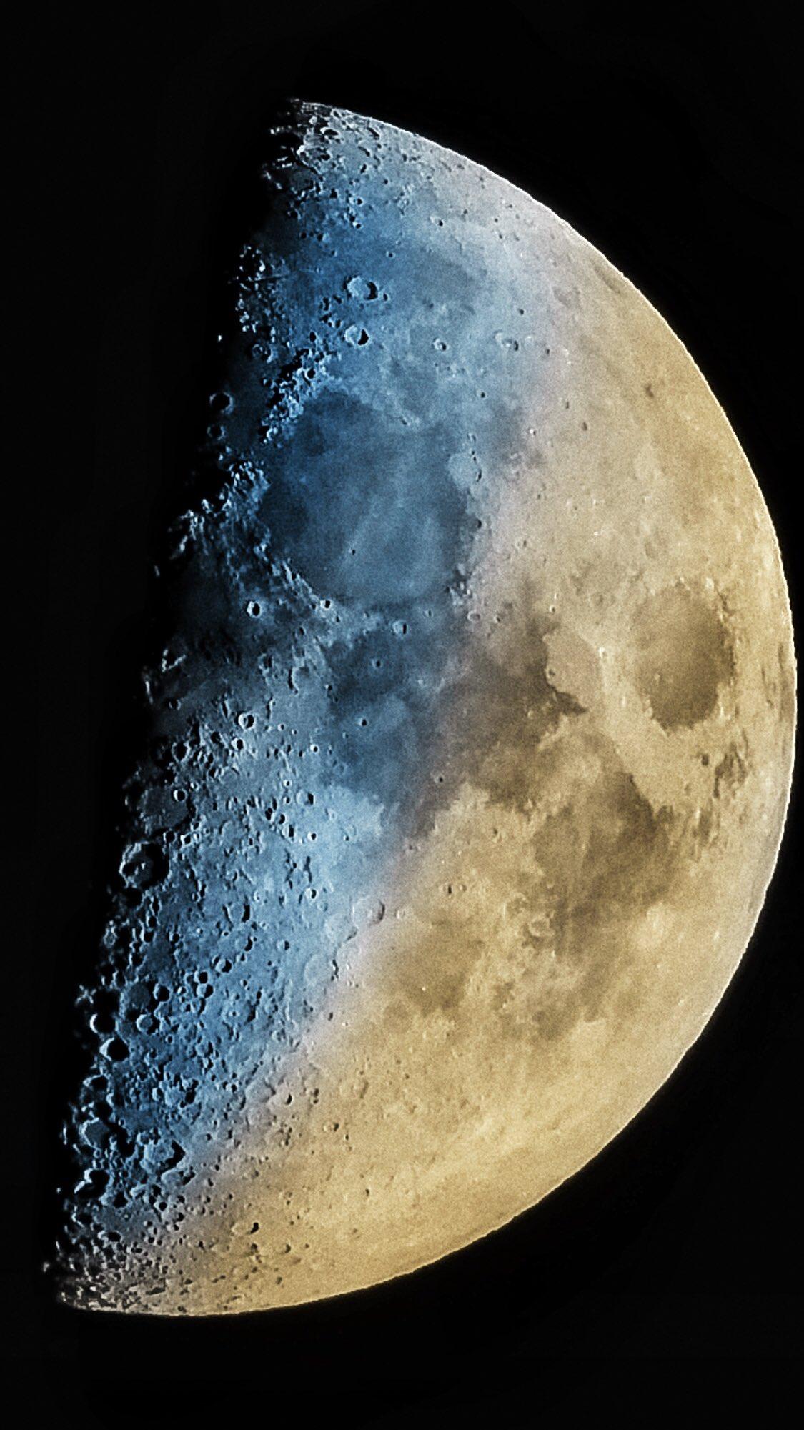 Juego de temperaturas sobre la Luna creciente