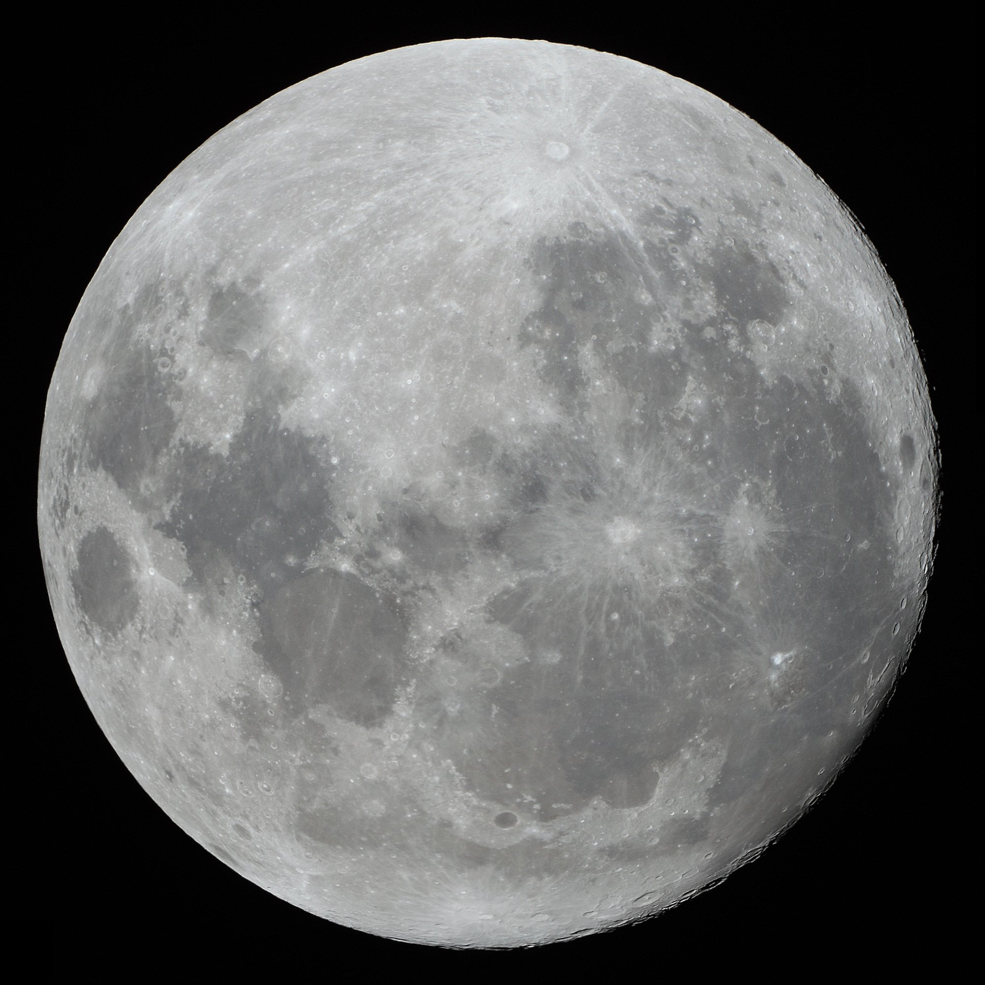 La Luna llena desde Japón