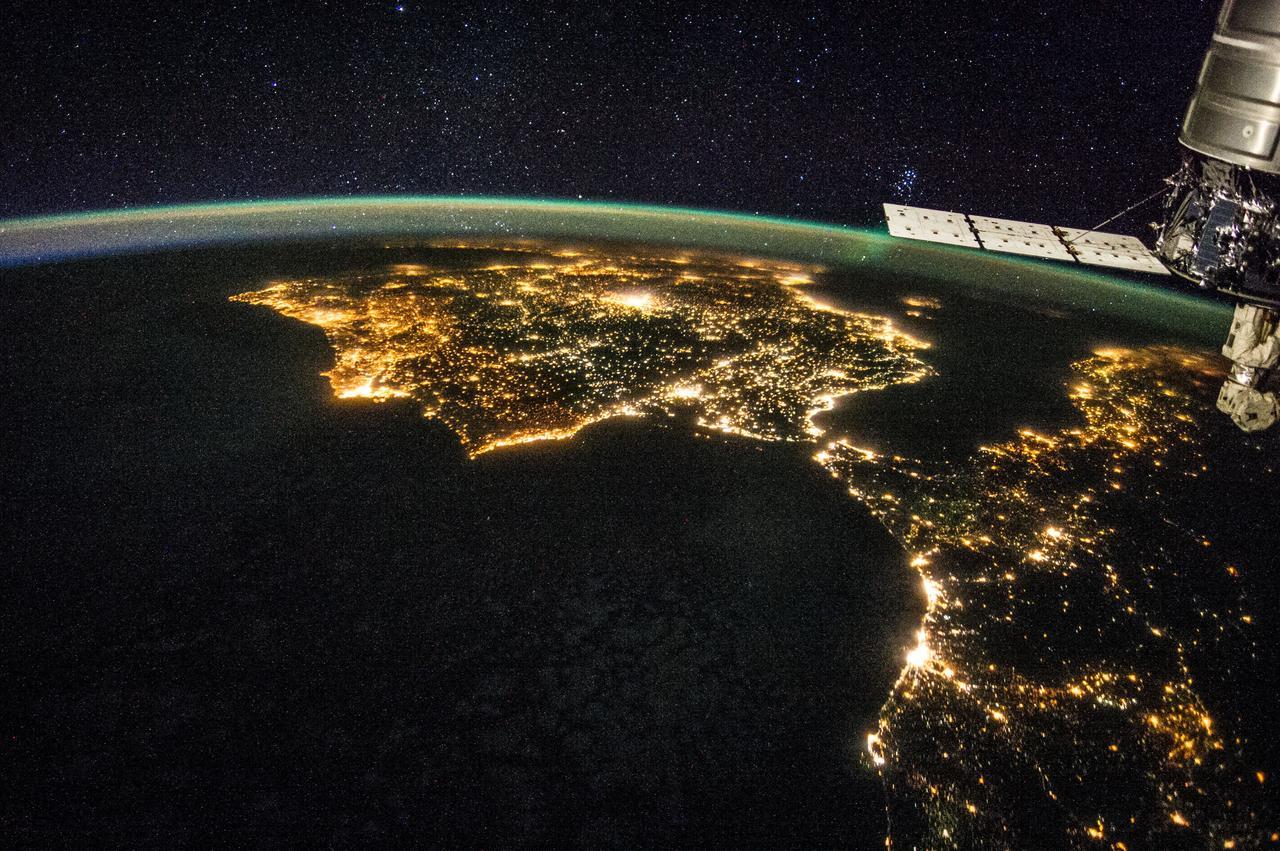 España desde la Estación Espacial Internacional
