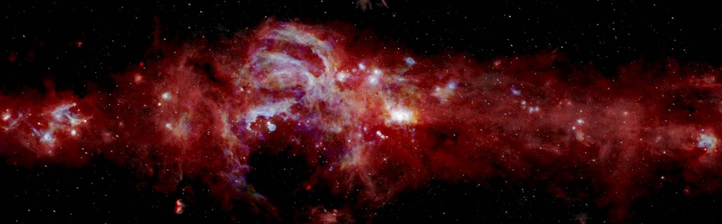 Una imagen infrarroja extremadamente nítida del centro de nuestra galaxia