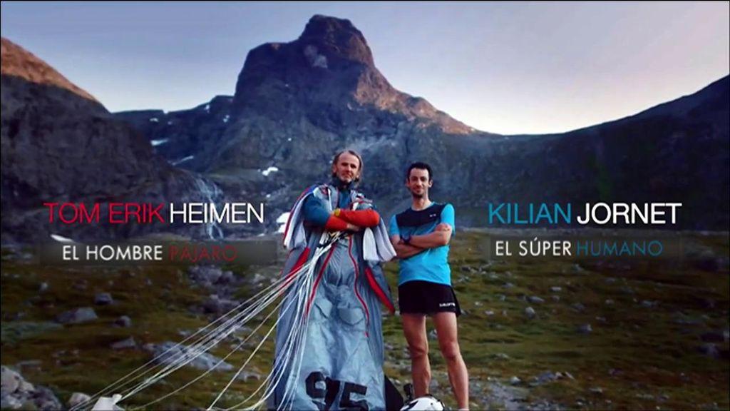 El desafío entre Kilian Jornet y el saltador base Tom Erik Heimen