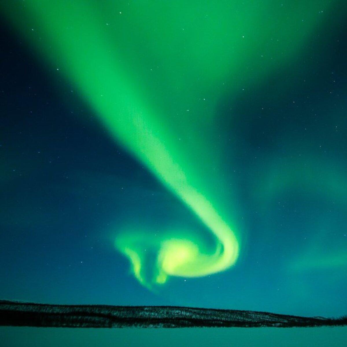 A la caza de la aurora en la «puerta del Ártico»