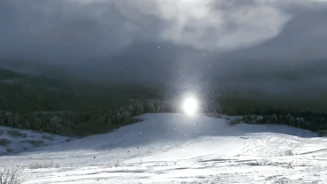 Una esquiadora rusa capta un fenómeno natural que parece de otro mundo