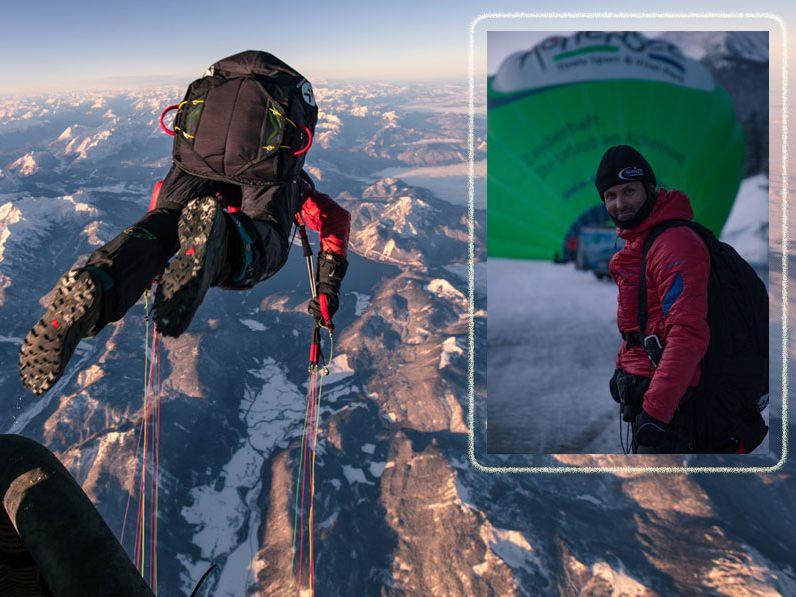 Nuevo récord del mundo: 7117m, el salto más alto desde un globo