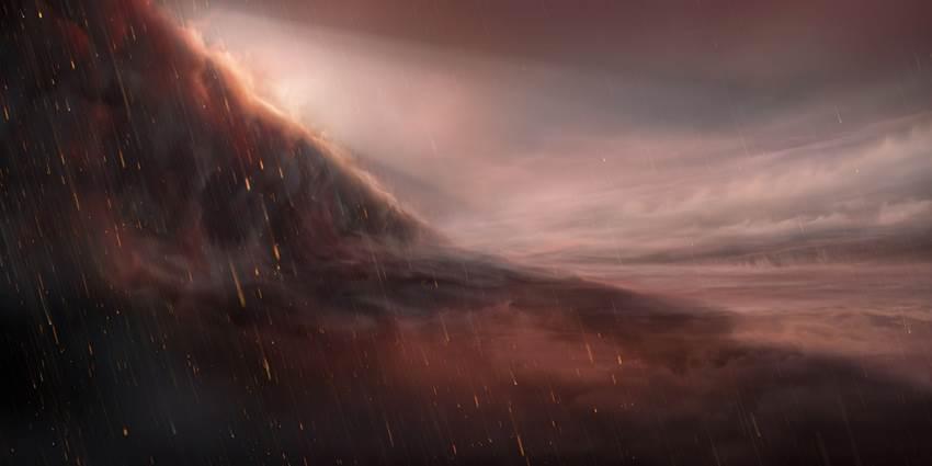 Un exoplaneta gigante y ultracaliente en el que llueve hierro