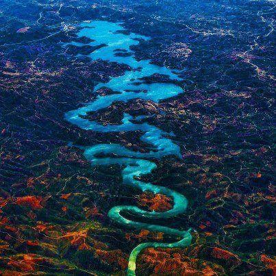 El río del «dragón azul» en Portugal