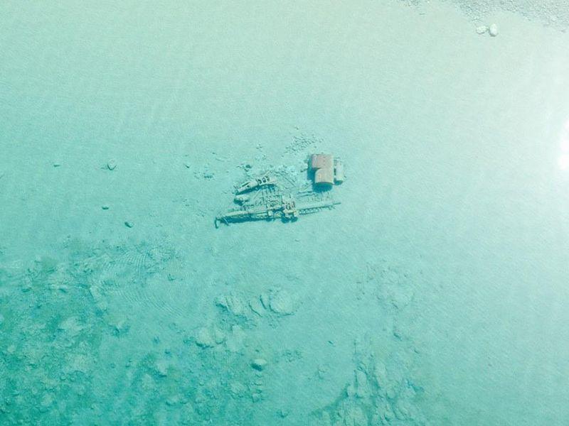 Las aguas limpias del lago Michigan permiten ver los naufragios desde el aire