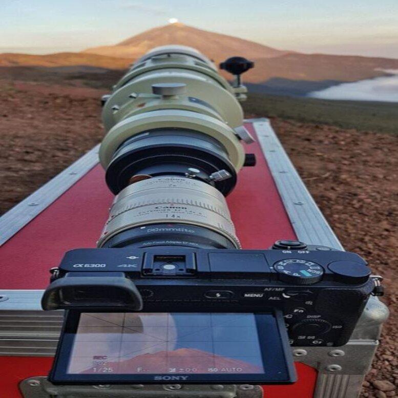 Cuando el volcán del Teide se «comió» a la Luna