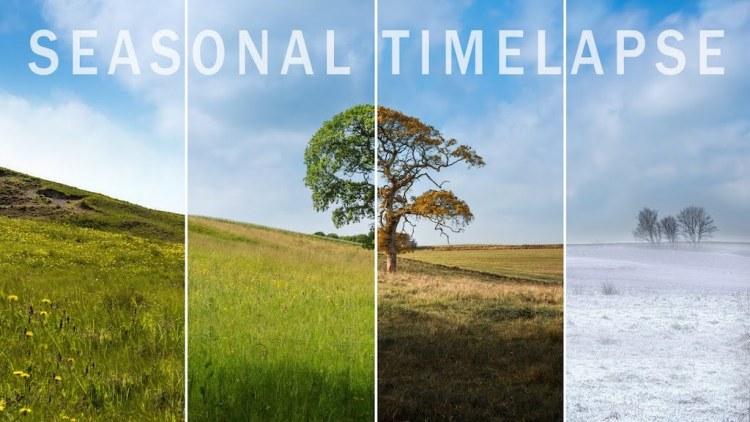 Un increíble timelapse de tres años revela los cambios estacionales sobre Jutlandia