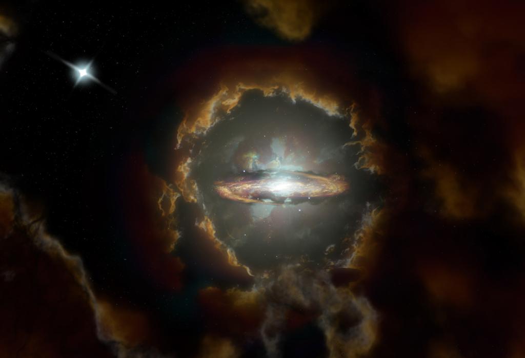 ALMA descubre la galaxia espiral más distante hasta la fecha