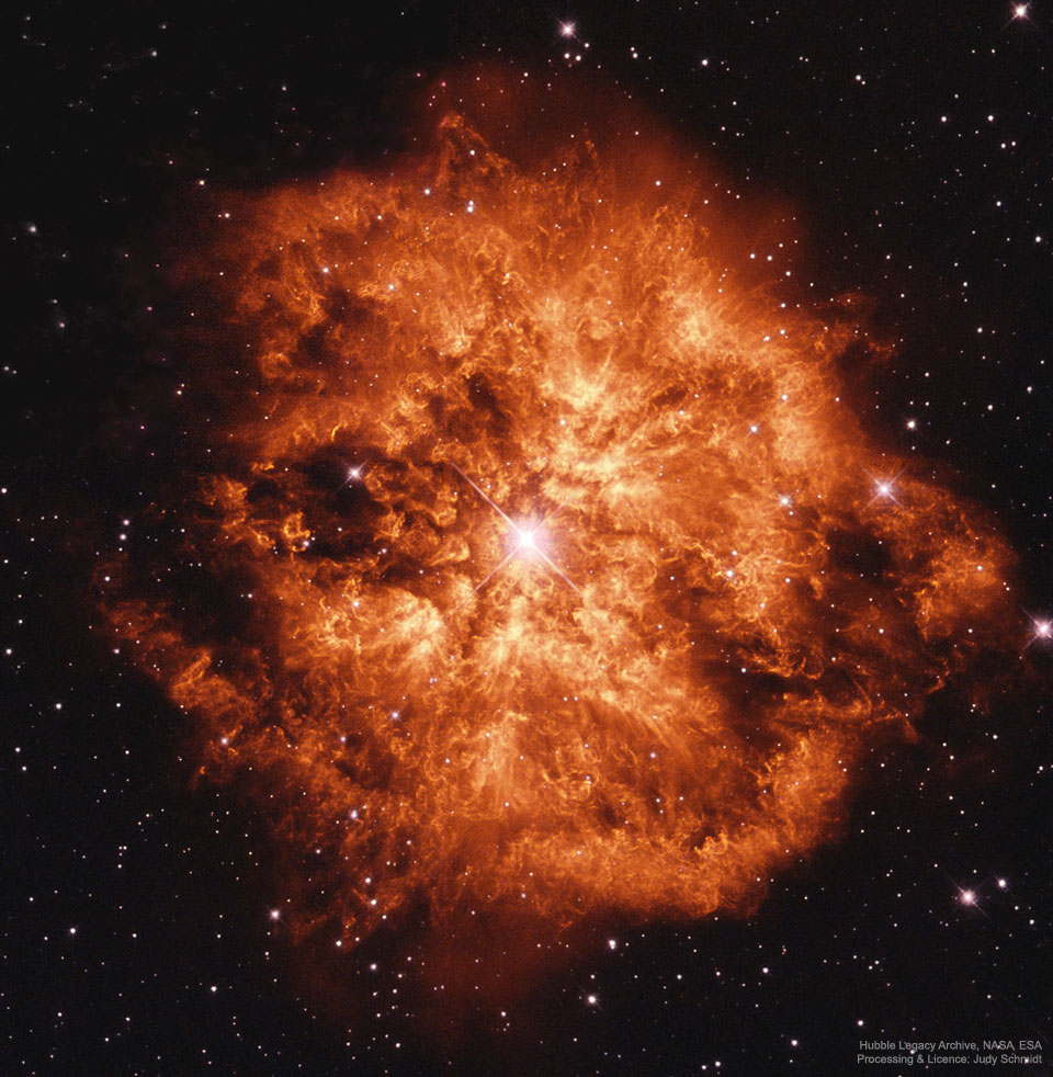 Wolf-Rayet 124: Máquina de viento estelar