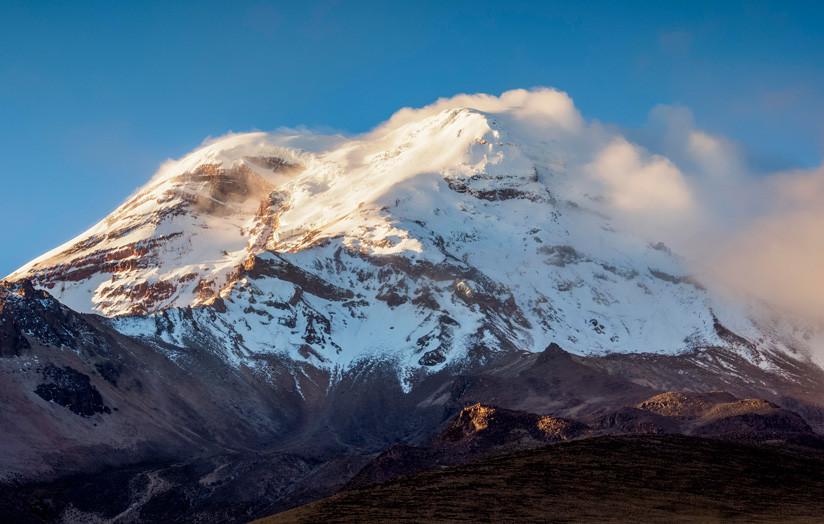 El volcán Chimborazo es la montaña más alta de la Tierra… (desde el centro)