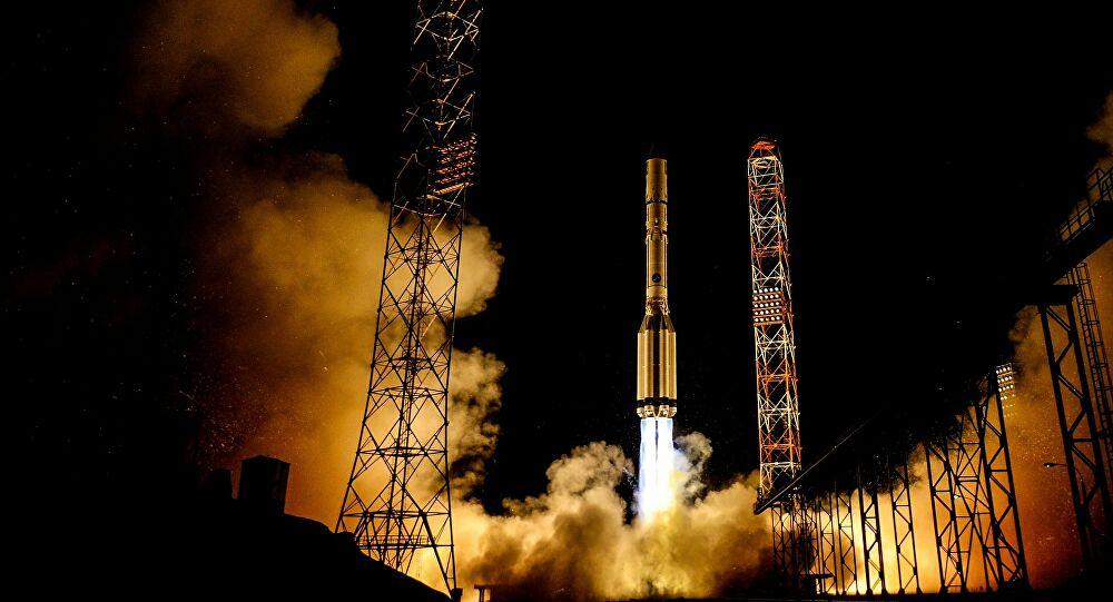 Lanzamiento en directo del cohete ruso Protón