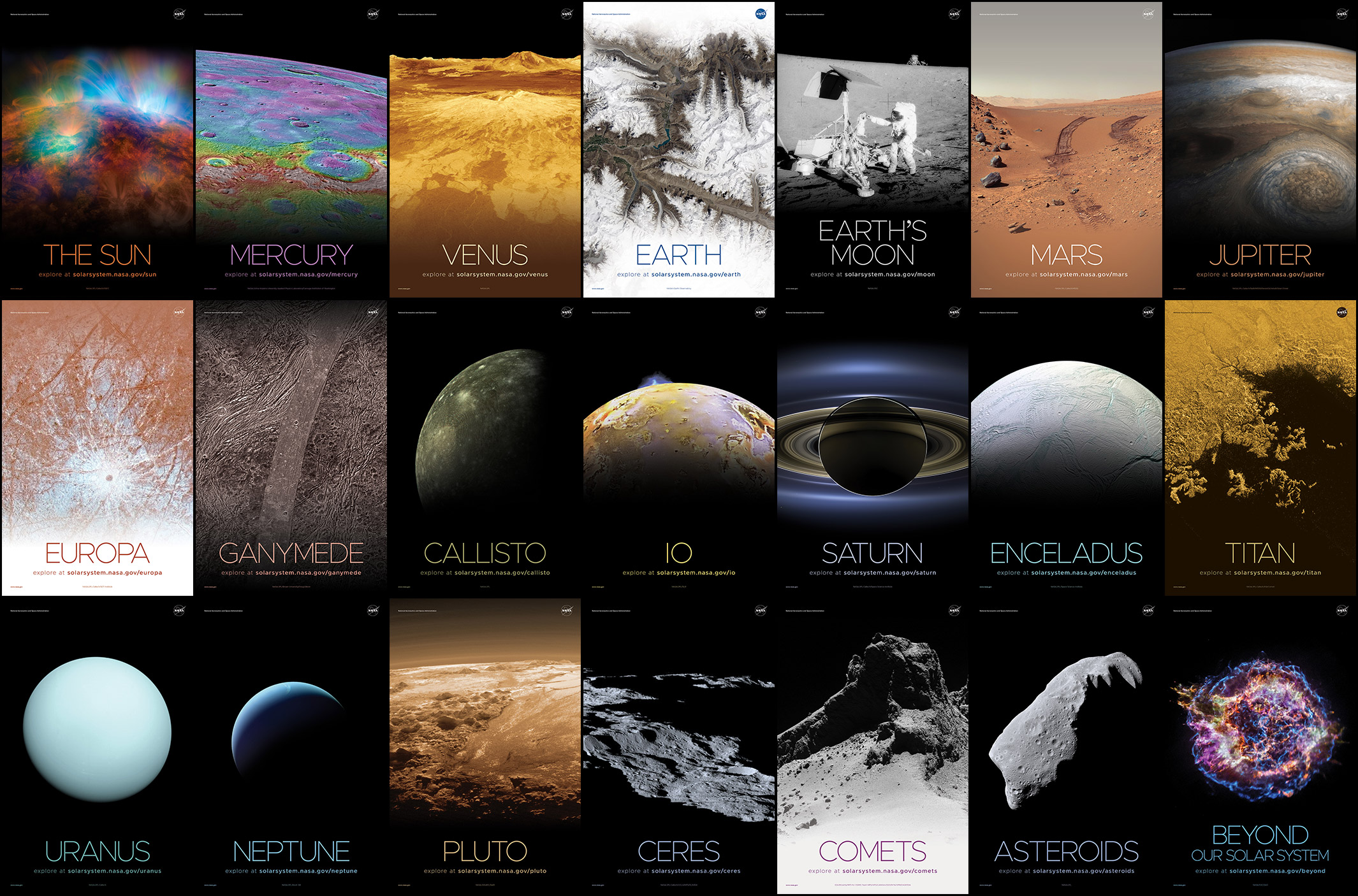 Imprime gratis tu póster del Sistema Solar de la NASA