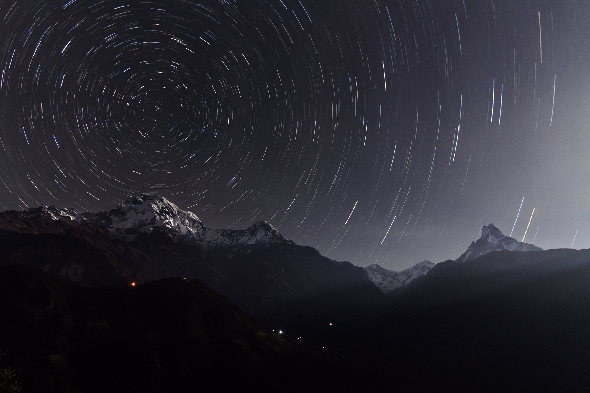 Annapurna Star Trails