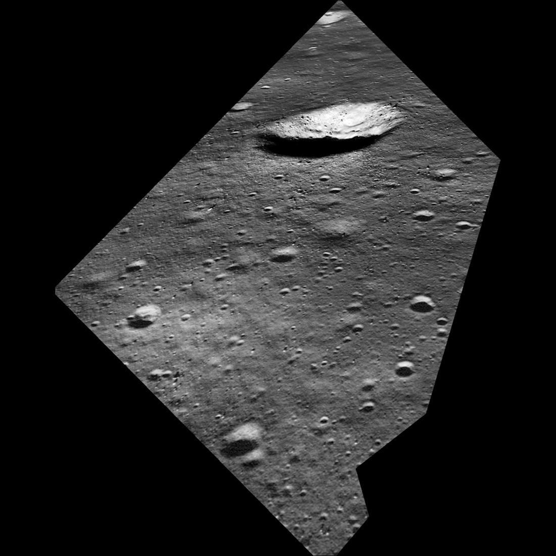 Esto es lo que vio Armstrong en su llegada a la Luna