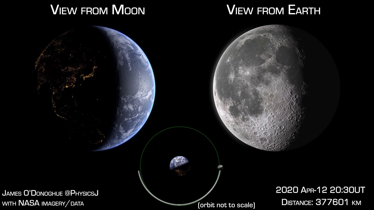 Así se ve nuestro planeta desde la Luna en tiempo real