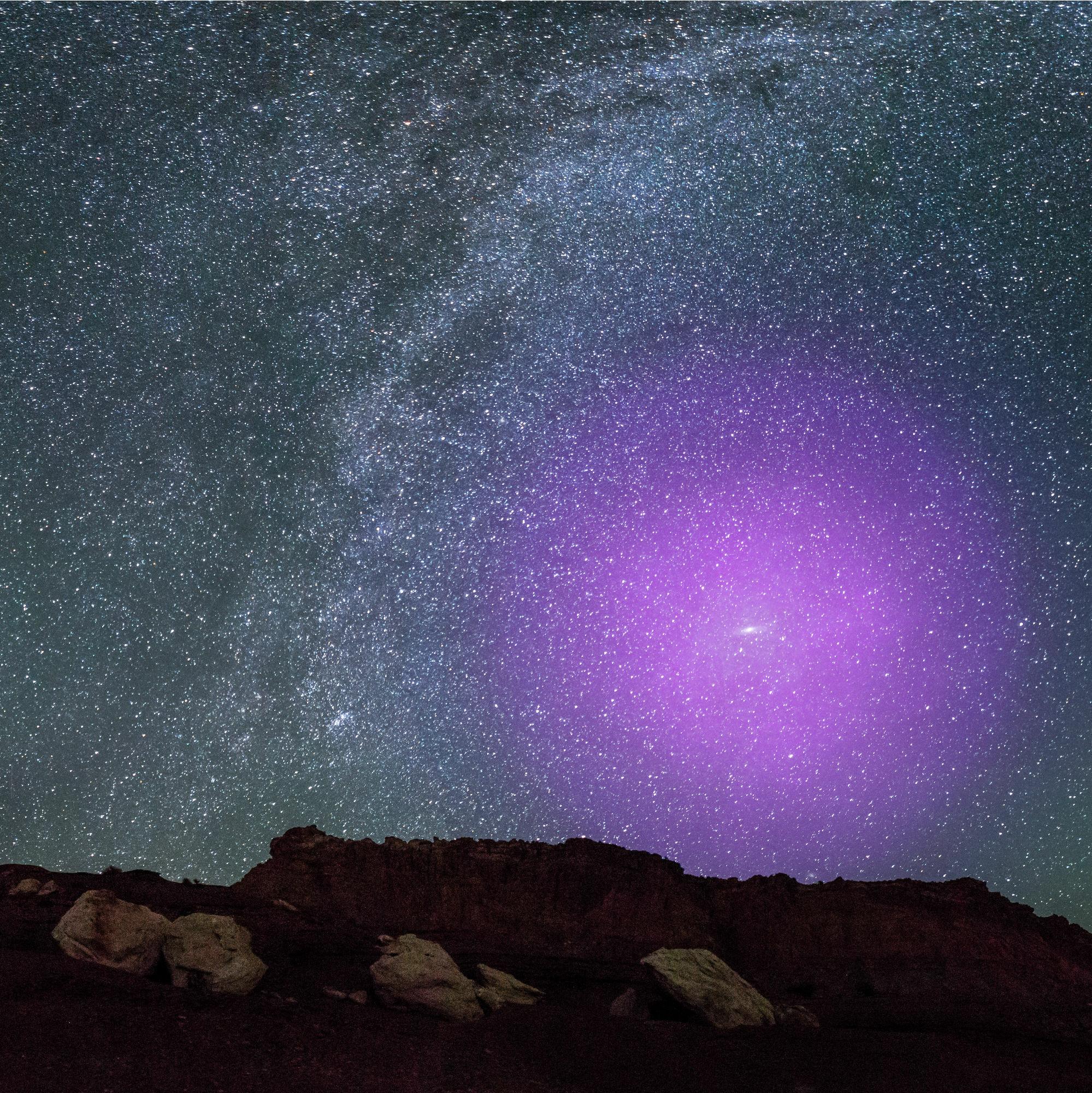 El halo de Andrómeda ya está chocando con el de la Vía Láctea