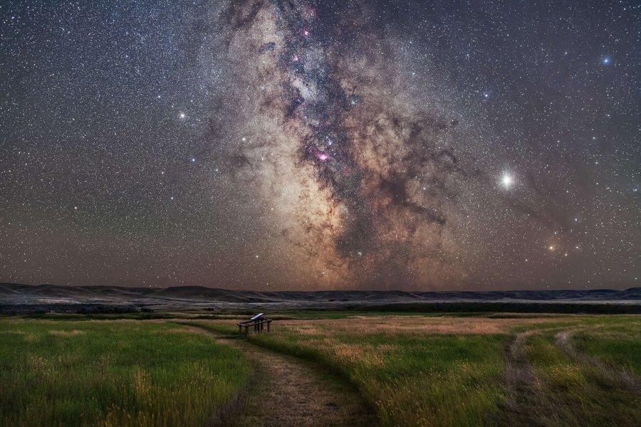 Las mejores imágenes de la conjunción a tres: Luna, Júpiter y Saturno