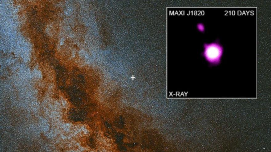 NASA capta un agujero negro 'escupiendo' parte de una estrella