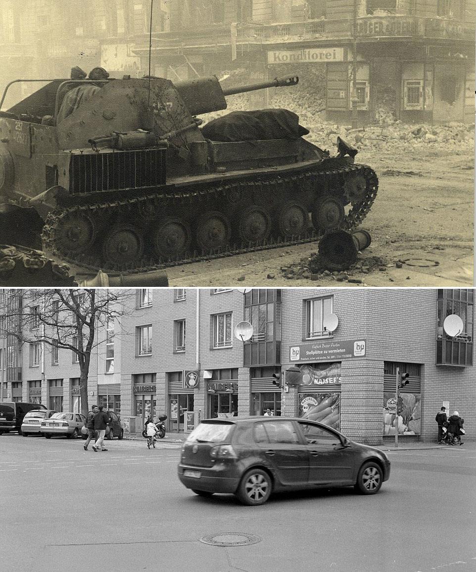 Impresionantes fotos: Alemania antes y después de la Segunda Guerra Mundial