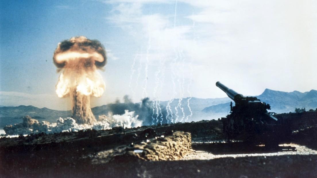 El único disparo de un cañón nuclear en la historia restaurado en 4K