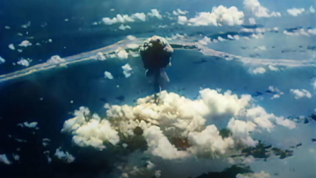Imágenes inéditas de las pruebas nucleares en el atolón Bikini