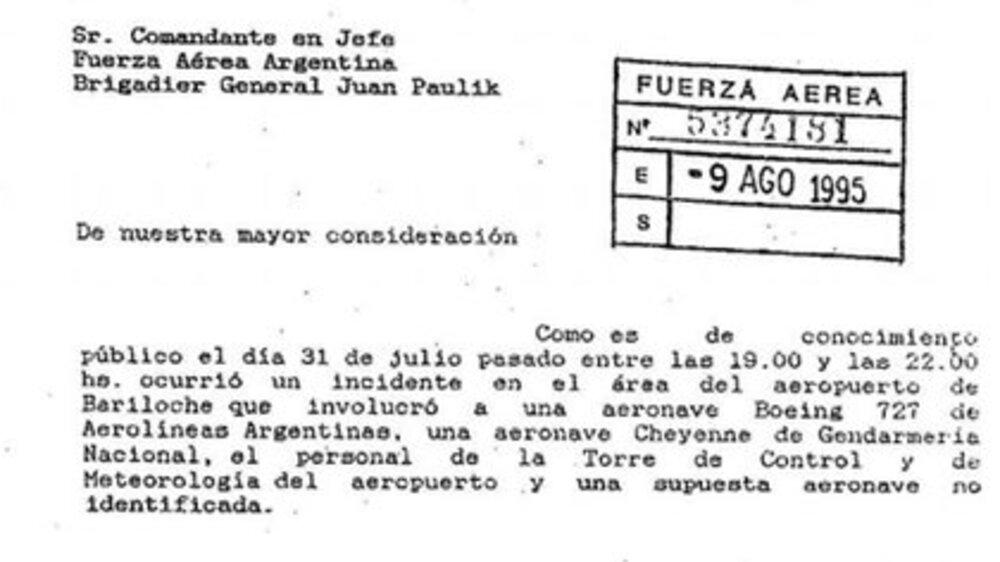 El Gobierno de Argentina desclasifica documentos sobre avistamientos OVNI