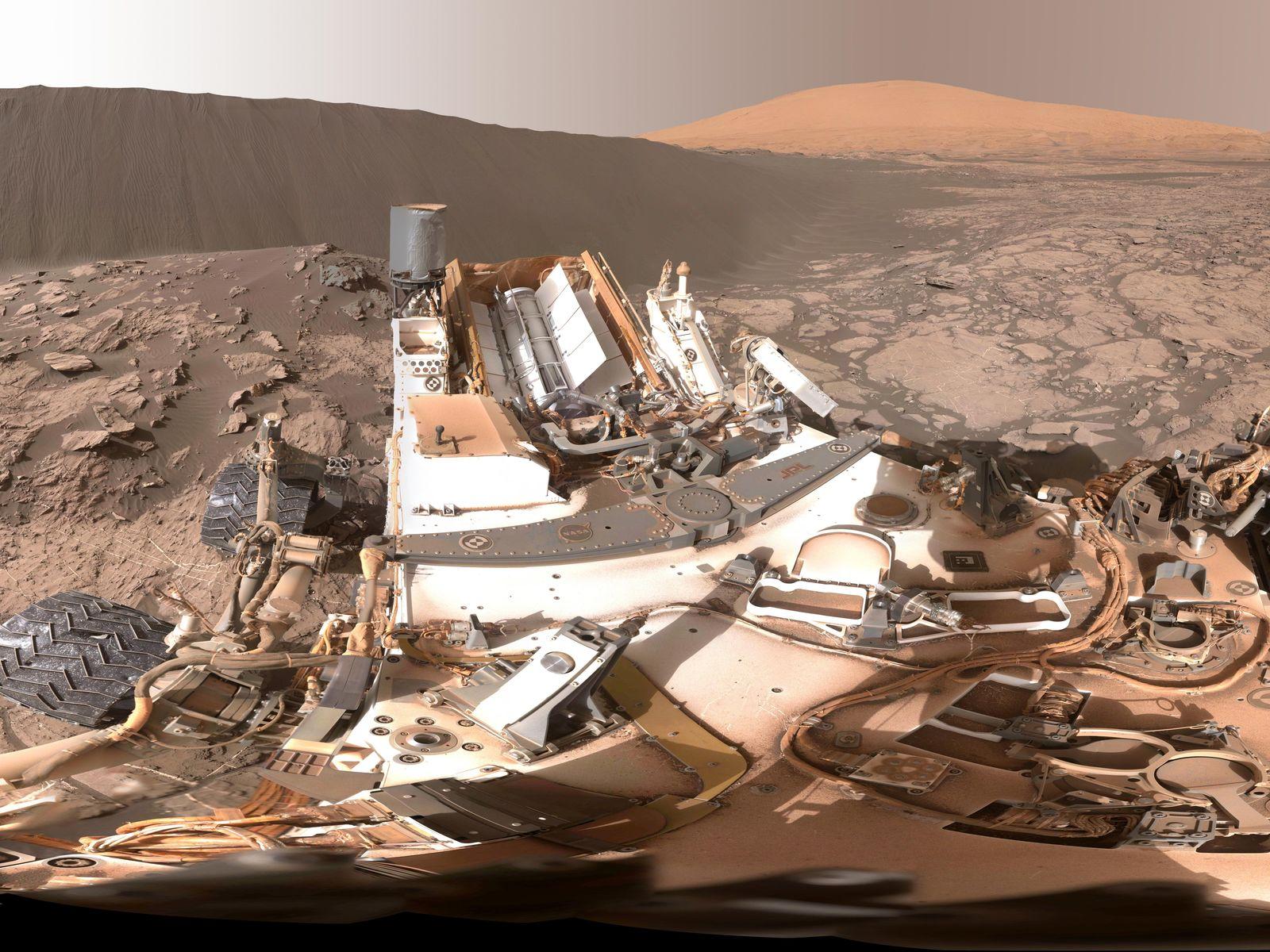 NASA nos muestra una visión 360º de las dunas de Marte