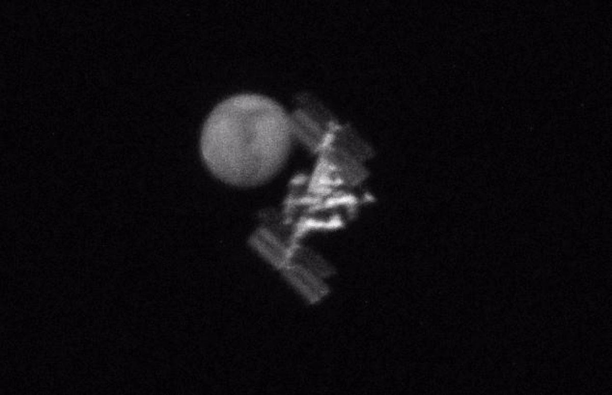 Espectacular vídeo: Tránsito de la ISS por Marte