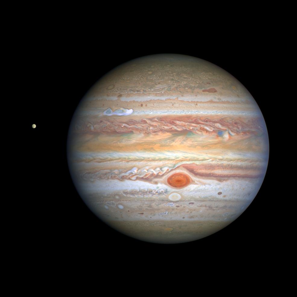El Hubble captura una nueva y nítida imagen de las tormentas de Júpiter