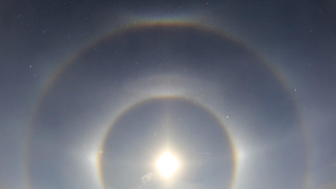 Parhelio: los «tres soles» iluminan el cielo de China