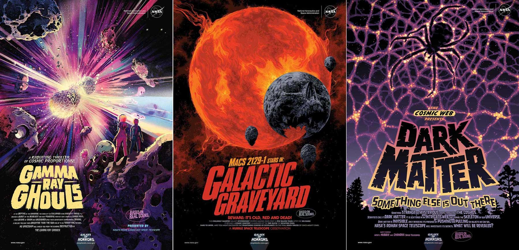 Nuevos posters NASA para Halloween: la Galaxia de los Horrores