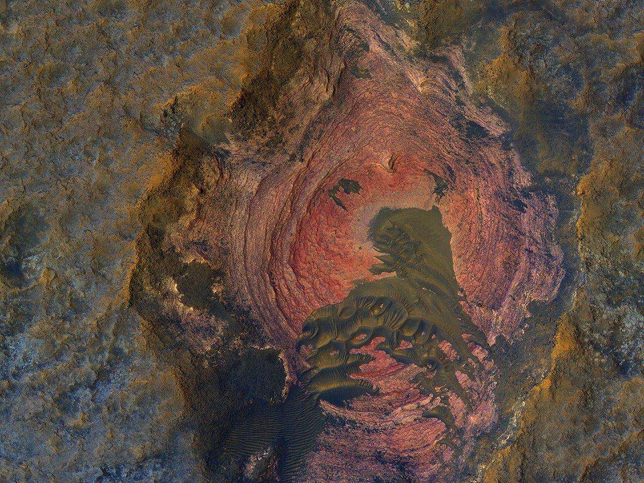 Foto: la NASA publicó imágenes del 'corazón' de Marte