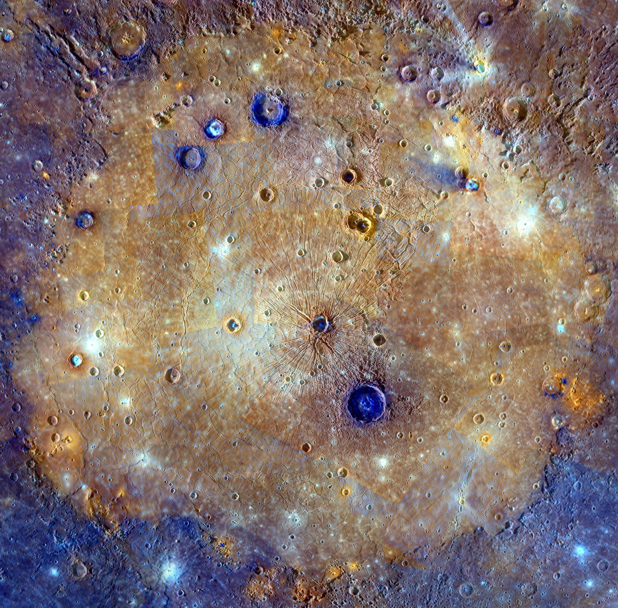 El increíble paisaje alienígena de Mercurio captado por MESSENGER