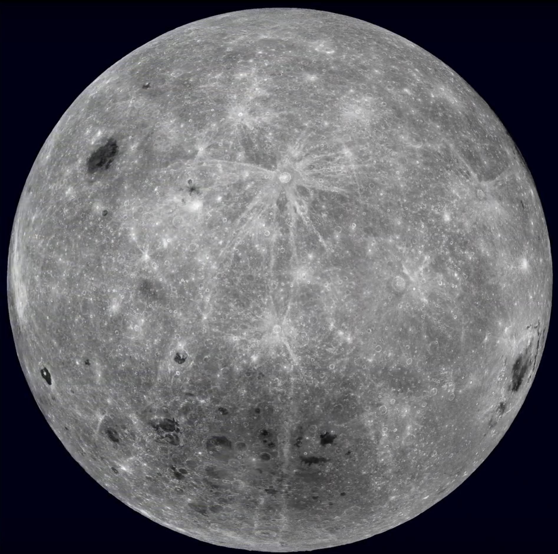 Las mejores imágenes tomadas en la cara oculta de la Luna