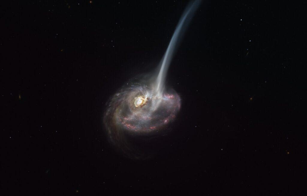 muerte de una galaxia distante